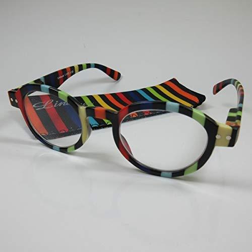 LINDAUER Klassische Lesebrille +3,0 bunt Fertigbrille für SIE & IHN Flexbügel