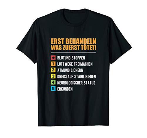 Notfallsanitäter Sanitäter ABCDE Schema Rettungssanitäter T-Shirt