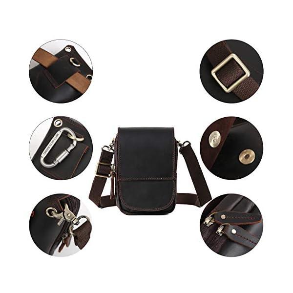 4132q8D 8VL. SS600  - Leathario Bolso Cinturón de Cuero de bandorela para Hombre-Riñonera Piel para Teléfono de 4~6 Pulgada Negro01