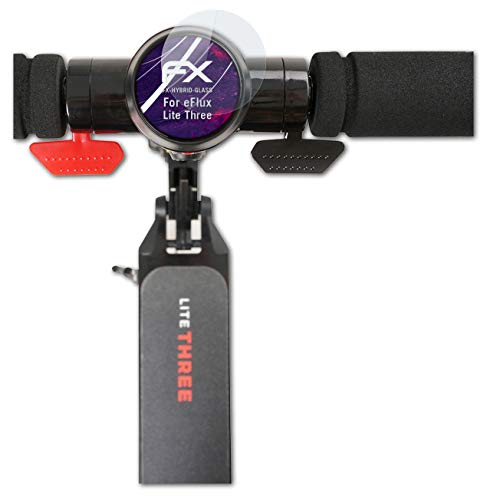 atFoliX Protection Écran Film de Verre en Plastique Compatible avec eFlux Lite Three Verre Film Protecteur, 9H Hybrid-Glass FX Protection Écran en Verre trempé de Plastique