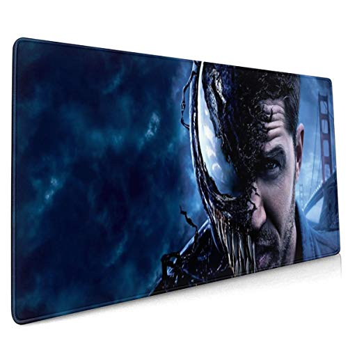 Venom Mouse Pad with Stitched Edge Premium-Textured Oversized Non-Slip Rubber Gaming Mouse Pad (15.8x35.5 Inches)