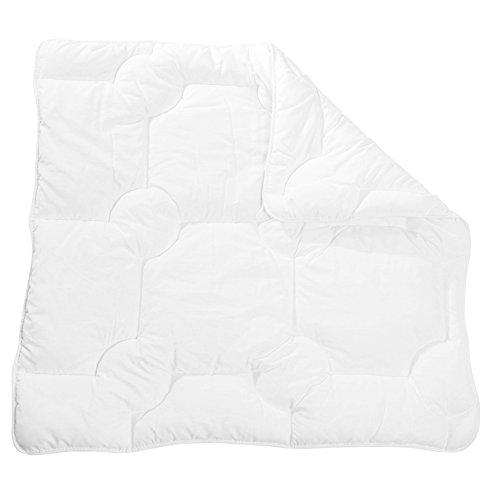 Zollner Baby Bettdecke, 80x80 cm, Mikrofaser, waschbar, ÖkoTex, weiß