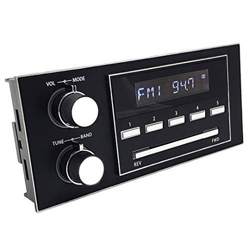 RetroSound New York 1.5 DIN Direct-fit Radio Stereo 1988-89 Chevrolet S-10 Blazer/Pickup, GMC S15 Jimmy/Pickup Bluetooth Hands-free USB MP3 WMA FLAC AUX AM/FM RCA