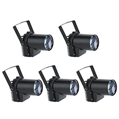 Mini-beamer, 30 W, LED, spot, wit, verlichting, stadion, KV, Bar, Club, DJ, 220 V ~ 240 V, 5 stuks