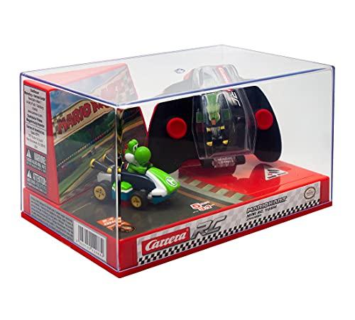 Carrera Mini RC Mario Kart mit Yoshi I Ferngesteuertes Auto ab 6 Jahren für drinnen & draußen I Mini Mario Kart Auto mit Fernbedienung zum Mitnehmen I Spielzeug für Kinder & Erwachsene