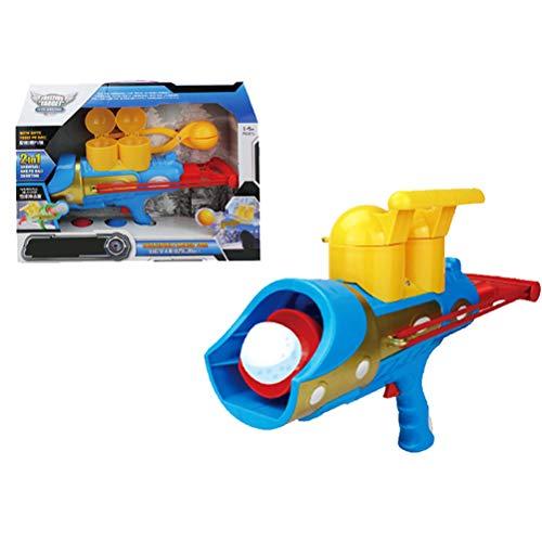 KUTO Pistola de Bolas de Nieve de Invierno, Lanzador de Bolas de Nieve 2 en 1, Divertidos Juguetes de Bolas de Nieve Al Aire Libre para Disparar Bolas de Nieve para Niños, Fácil de Jugar