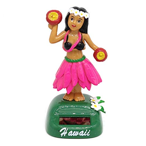 Figurine Solaire Dansante,Danseuse Hawaienne Voiture Qui Bouge,Jouet Voiture Solaire Poupée Hawaiian Fille,Figurine Hawaïenne Voiture Décoration De Voiture Solaire Danse Jouet Bureau Fournitures