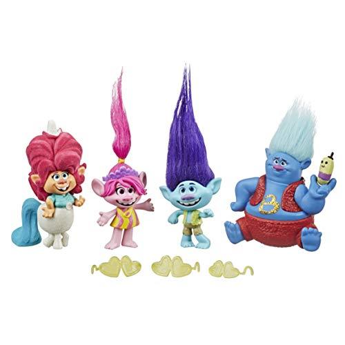 Hasbro DreamWorks Trolls Lonesome Flats Tour Pack, 5 kleine Figuren, inspiriert durch den Film Trolls World...