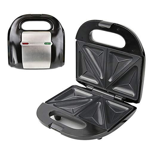 JKJ Toastie Maker-Sandwich und Waffeleisen, mit automatischer Temperatursteuerung, tiefe Platten, Antihaftbeschichtung, Leistungsanzeige, 750 W, ideal für das Frühstück, A