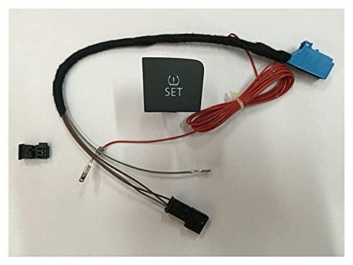SHOUNAO Nuevo botón de Interruptor de presión de neumáticos + arnés de Cable Ajuste para VW Passat B6 35D 927 121 o 3C0 927 121 D