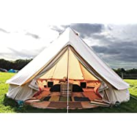 Latourreg Pyramid Round Bell Tent Canvas Yurt Tent With Zipped Groundsheet For Family Outdoor Camping