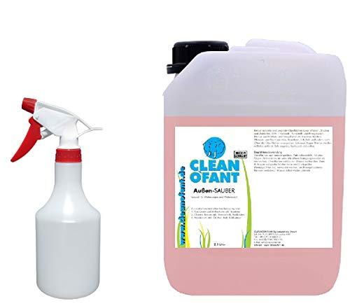 CLEANOFANT Außen-SAUBER 2,3 Liter Set mit Pumpsprühflasche Reiniger für Wohnwagen, Wohnmobil, Caravan