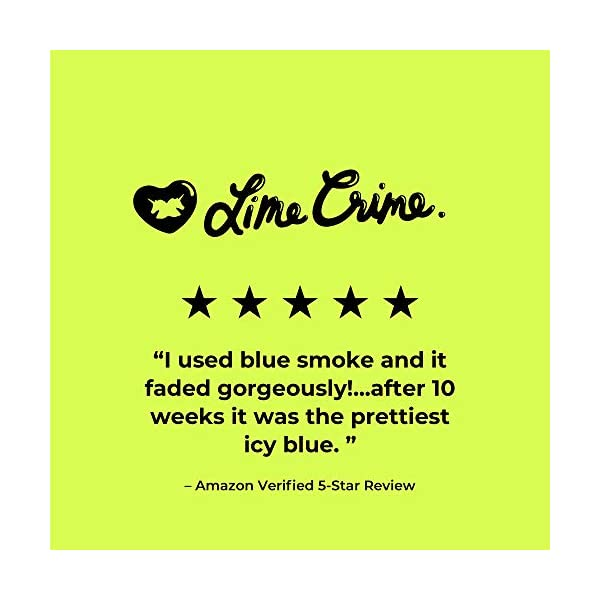 Lime Crime Unicorn Hair Dye, Blue Smoke - Navy Blue Fantasy Hair Color - Full Coverage, Ultra-Conditioning, Semi-Permanent, Damage-Free Formula - Vegan - 6.76 fl oz 4
