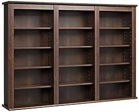 Prepac Triple Wall Mounted  Storage Cabinet, Espresso