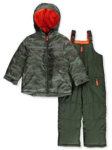 Carter's Boys' Toddler Heavyweight 2-Piece Skisuit Snowsuit, Olive Camouflage, 3T