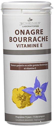 3 Chenes - Onagre Bourrache Vitamine E 150 Capsules 3 Chenes