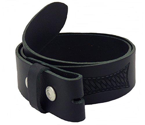 Gürtel Wechselgürtel Westerngürtel Echt Leder schwarz punziert G.75-135 (105)
