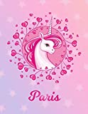 Paris: Unicorn Sheet Music Note Manuscript Notebook Paper | Magical Horse Personalized Letter P Initial Custom First Name Cover | Musician Composer ... Notepad Notation Guide | Compose Write Songs