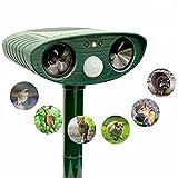 Ultraschallabwehr Tiervertreiber Katzenschreck Tierabwehr mit Solar Bewegungsmelder und Blitz   Wasserdicht für Garten