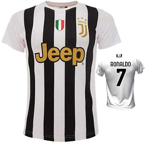 BrolloGroup Camiseta Blancín Ronaldo Dybala Chiellini De Ligt Réplica Campeonato Serie A 2021 PS 39560-B (8 años, Ronaldo 7)
