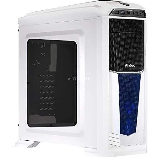 Antec GX-330 Midi-Tower Blanco PC-behuizing (Midi-Tower, PC, wit, ATX, Micro ATX, Spel, blauw)