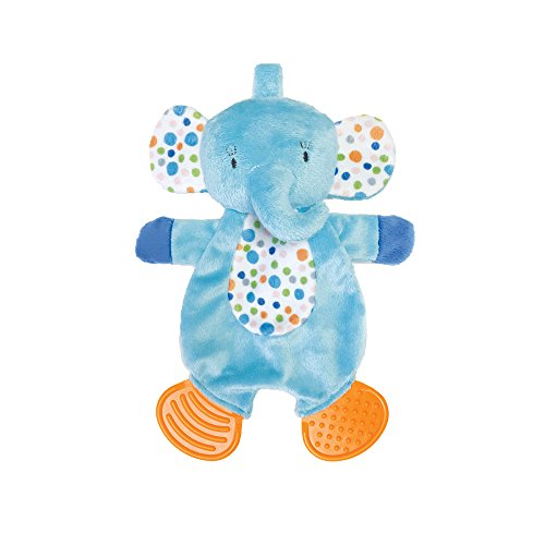 Manhattan Toy Teether Elephant Soft Snuggle Blankie Toy