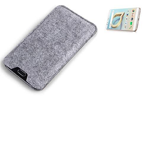 K-S-Trade Filz Schutz Hülle Für Alcatel A7 XL Schutzhülle Filztasche Filz Tasche Hülle Sleeve Handyhülle Filzhülle Grau