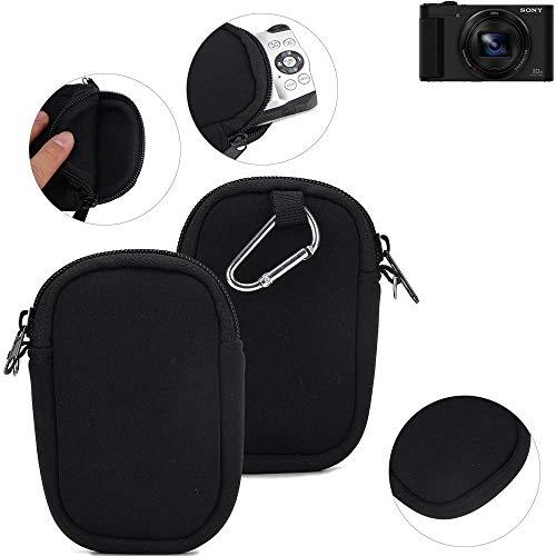 K-S-Trade® Kameratasche Für Sony Cyber-Shot DSC-HX80 Schutz Hülle Kompaktkamera Tasche Travelbag Sleeve Case Neopren Fototasche Schwarz 1x
