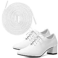 JYXETOV 靴ひも(2足4本入)、平型、防水ワックス、楕円型の靴ひも3種類、11色6種類の長さ