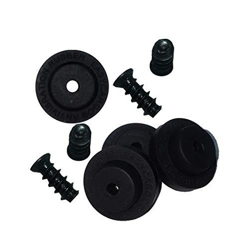 Easycargo Almohadillas antivibraciones, amortiguador de ventilador para reducción de ruido, amortiguador de silicona para ventilador de bajo ruido de 80 mm, 92 mm, 120 mm, 140 mm (negro, 16 un
