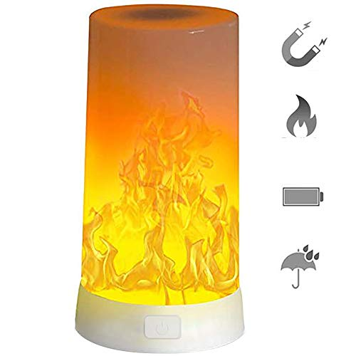LED Flame Light, Flame lamp USB Rechargeable 4 Modes Fire Lights Indoor Campfire Outdoor Decoration Lantern Hanging Lamps Fireplace Romantic Light Table Night Lighting for Home Party Camping Bar