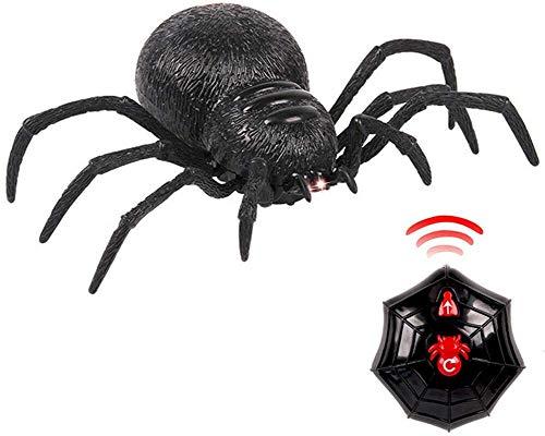 Hoajeo Falso Araña para Halloween, Miedo Asqueroso Simulado Araña Control Remoto Juguete Broma Niños Fiesta Halloween Decoración