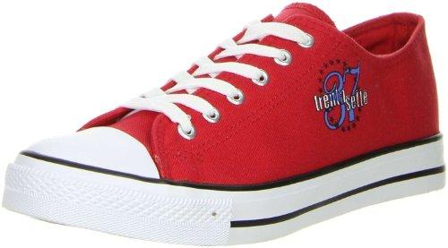 Schuhe-Trentasette Damen Sneaker Low-Cut rot, Größe:38, Farbe:Rot