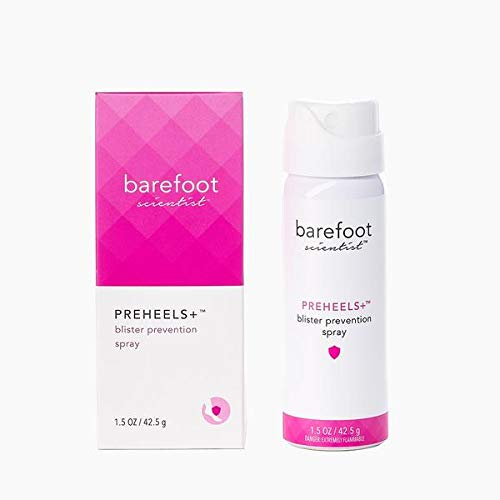 Barefoot Scientist PreHeels+ Blister Prevention Spray, Innovative Invisible Protective Barrier Against Blisters