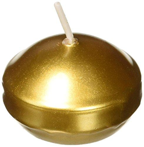 Zest Candle 24-Piece Folding Candles, 1.75-Inch, Metallic Bronze Gold