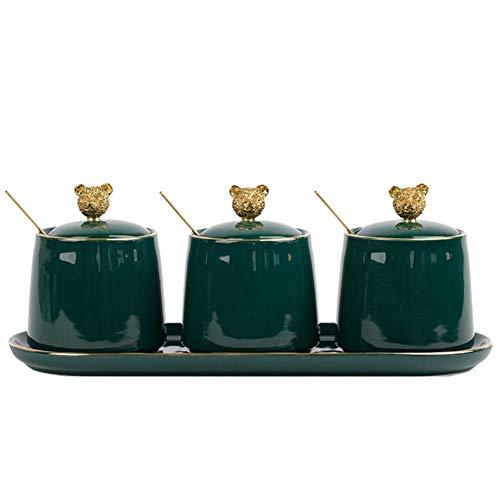 Nordic groene kruiden in keramische pot Huis & keuken lepel set top kruidenzout shaker fles bier kruidcontainers,een afmeting,3 acties