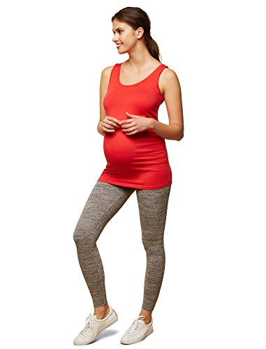 Motherhood Maternity Women's Maternity Novelty Full Length Secret Fit Belly Leggings, Grey Space Dye, Extra Large