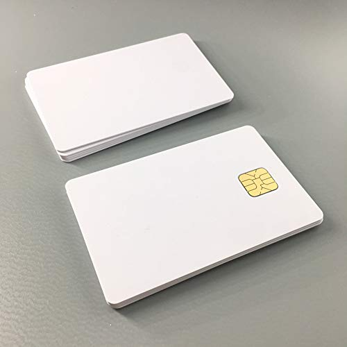 AT24C64 Chip Smart IC Card with 64K EEPROM Memory ISO 7816 White Printable PVC Card For Access Control System 10pcs By XCRFID