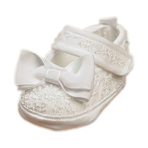 Festliche Taufschuhe Babyschuhe Ballerinas creme ivory Spitze Gr. 17 Modell 4907