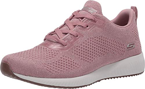 Skechers Bobs Squad-Glitz Maker, Zapatillas para Mujer, Rosa (Pink Sparkle Engineered Knit Pnk), 39 EU