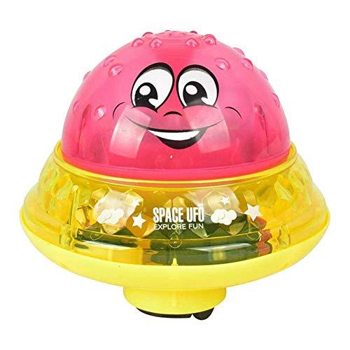 JKMQA Baby Spray Agua baño Juguete automático inducción aspersión Piscina iluminación Juguete Regalo Verano al Aire Libre Divertido Juego Juego Ducha niño (Color : Red with Base)