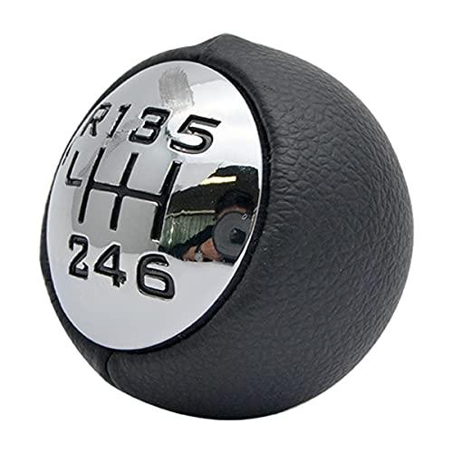 HugeAuto – Pommeau de levier de vitesse à 6 vitesses pour Peugeot 307 308 3008 407 5008 807