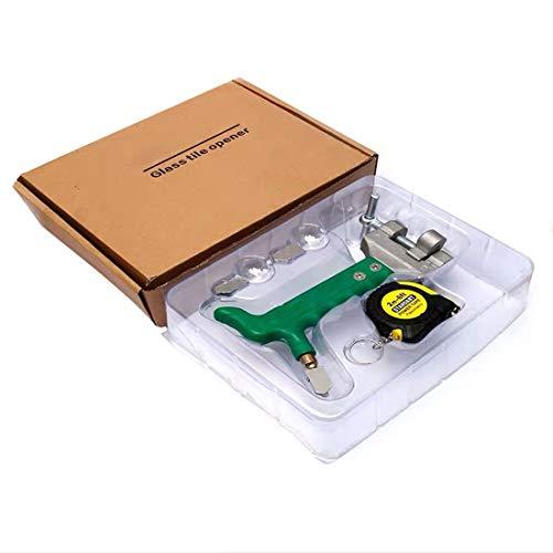 Cortador De Vidrio Juego de herramientas de cortador de vidrio 0mm-10mm Herramienta de corte de vidrio de suministro de aceite de mano, cortador de azulejos integrado Muy adecuado para vidrio / espejo