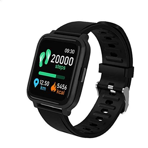 SYLL Reloj Inteligente, Pantalla táctil de 1.3', con Monitor de frecuencia cardíaca, presión Arterial y sueño, Reloj GPS, rastreador de Rango de Movimiento, Reloj Impermeable IP68,Negro