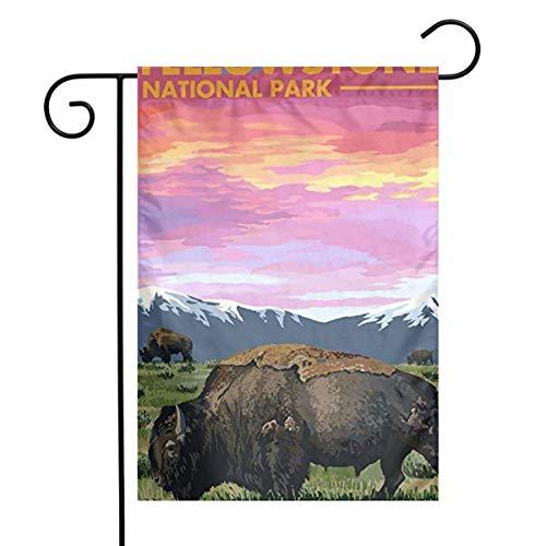YTGHF Gartenflagge Garden Flag Yellow Stone National Park Home Yard Outdoor Decorative Flag
