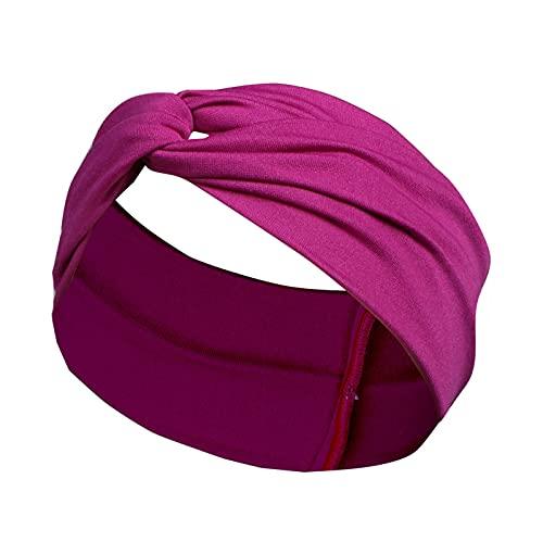 5665 Diademas de Entrenamiento Deportivo, Diademas Elásticas Suaves para Yoga, para Correr, para Fitness, para Mujeres, Diademas para Mujeres, Turbante,Purple