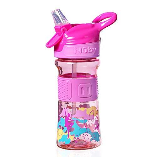 Nuby Tritan Sippy Cup, Tasse Captain Quench Active pour Enfant, 360 ml, Danse Rose