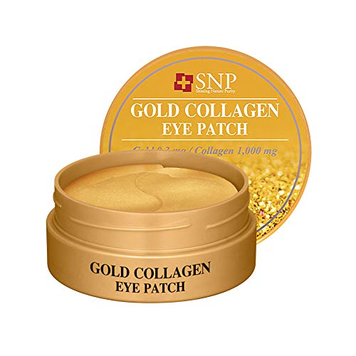 SNP - Gold Collagen Firming Eye Patch - Plumps & Tightens Using Real 24K Gold for All Skin Types - 60 Patches - Best Gift Idea for Mom, Girlfriend, Wife, Her, Women
