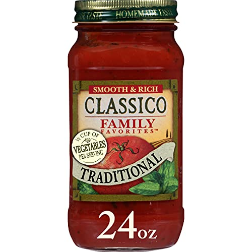 Classico Family Favorites Traditional Pasta Sauce (24 oz Jars, Pack of 8)