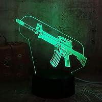 ボーイクール3D LedナイトライトPubgサブマシンガンボーイギフト7色変更Usbバッテリーデスクランプクリスマスギフト